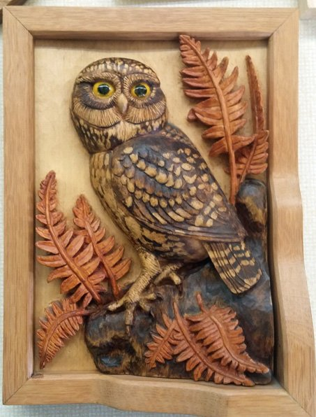 Mixed wood carvings 'show and tell march meeting